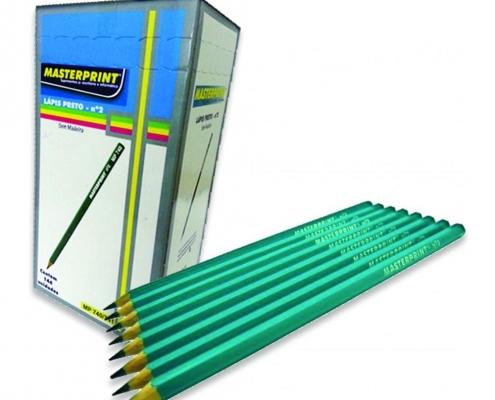 Lápis Preto Resina Nº 2 Verde caixa com 144 unidades Masterprint
