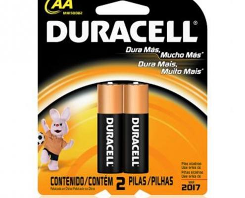 Pilha Alcalina AA com 2 unidades Duracell