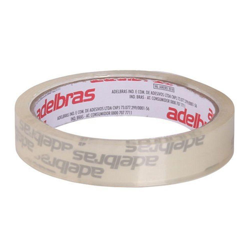 Fita Adesiva para Embalagem Qualitape 24x50 Transparente Adelbras